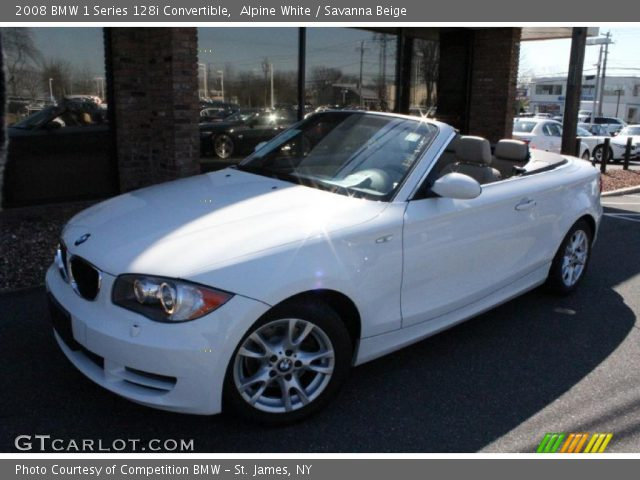 alpine white 2008 bmw 1 series 128i convertible savanna beige interior. Black Bedroom Furniture Sets. Home Design Ideas