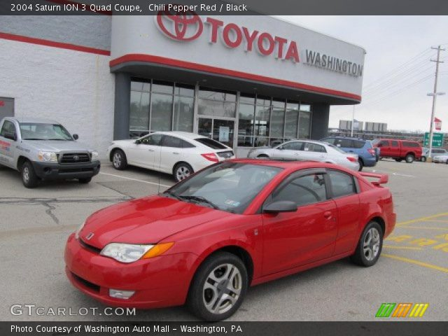2004 Saturn ION 3 Quad Coupe in Chili Pepper Red