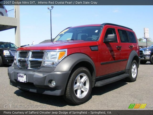 inferno red crystal pearl 2007 dodge nitro sxt dark. Black Bedroom Furniture Sets. Home Design Ideas
