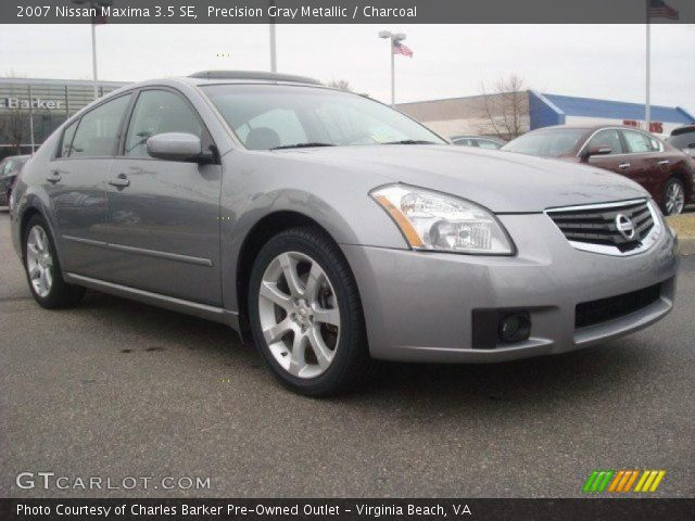 precision gray metallic 2007 nissan maxima 3 5 se charcoal interior vehicle. Black Bedroom Furniture Sets. Home Design Ideas