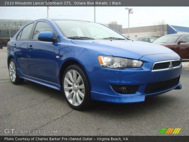 octane blue metallic 2010 mitsubishi lancer sportback. Black Bedroom Furniture Sets. Home Design Ideas