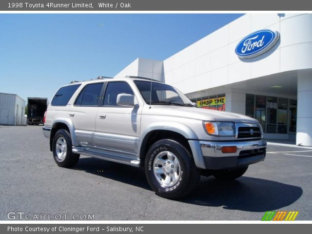 White 1998 Toyota 4runner Limited Oak Interior Vehicle Archive 47635767