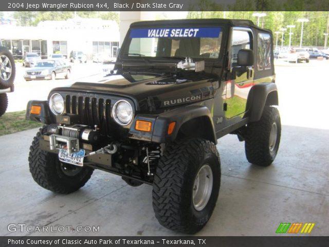 black 2004 jeep wrangler rubicon 4x4 dark slate gray interior vehicle. Black Bedroom Furniture Sets. Home Design Ideas