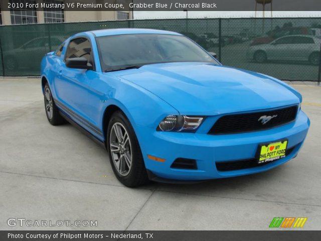 grabber blue 2010 ford mustang v6 premium coupe. Black Bedroom Furniture Sets. Home Design Ideas