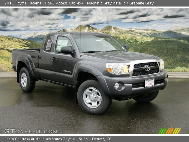 magnetic gray metallic 2011 toyota tacoma v6 sr5 access cab 4x4 graphite gray interior. Black Bedroom Furniture Sets. Home Design Ideas