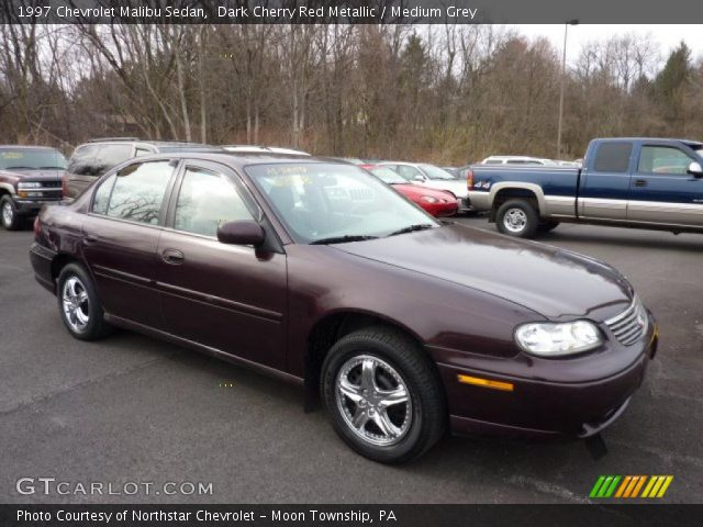dark cherry red metallic 1997 chevrolet malibu sedan medium grey interior. Black Bedroom Furniture Sets. Home Design Ideas