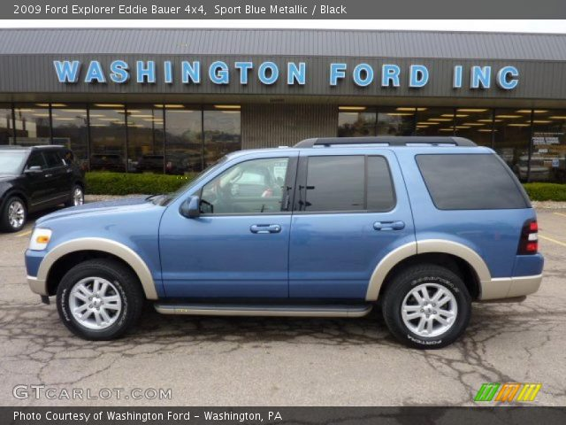 sport blue metallic 2009 ford explorer eddie bauer 4x4 black interior. Black Bedroom Furniture Sets. Home Design Ideas