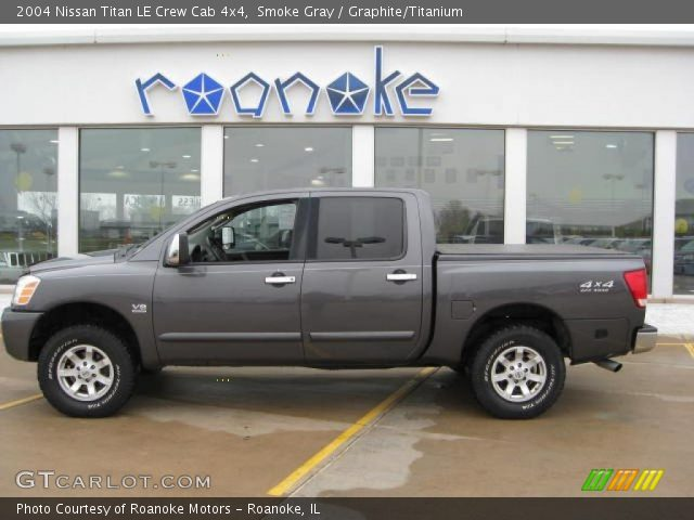 smoke gray 2004 nissan titan le crew cab 4x4 graphite. Black Bedroom Furniture Sets. Home Design Ideas