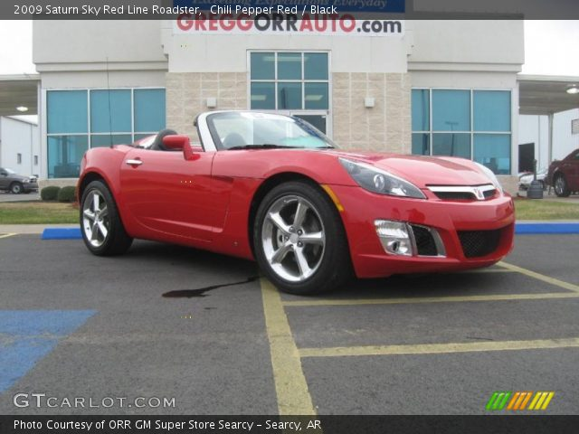2009 Saturn Sky Red Line Roadster in Chili Pepper Red