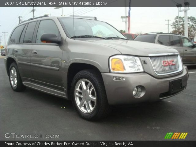 steel gray metallic 2007 gmc envoy denali 4x4 ebony. Black Bedroom Furniture Sets. Home Design Ideas