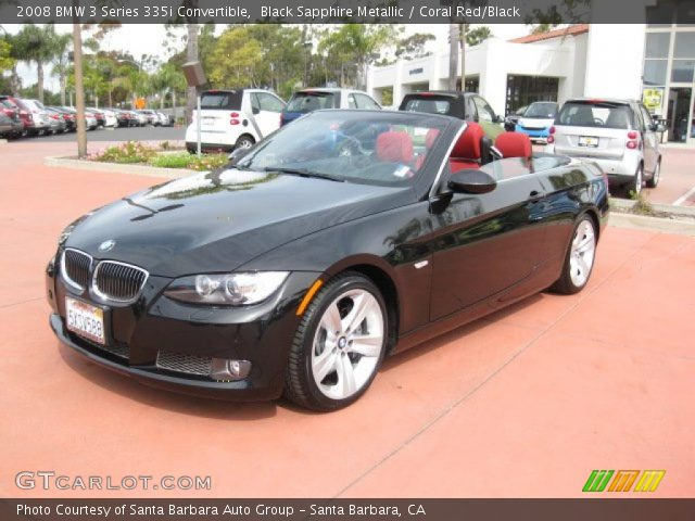 Black Sapphire Metallic 2008 Bmw 3 Series 335i Convertible Coral Red Black Interior