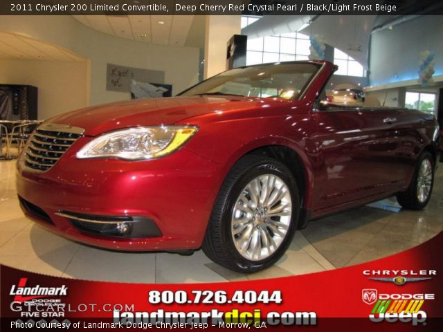 2011 Chrysler 200 Limited Convertible in Deep Cherry Red Crystal Pearl