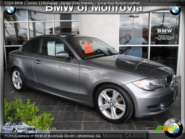 2009 BMW 1 Series 128i Coupe in Space Grey Metallic