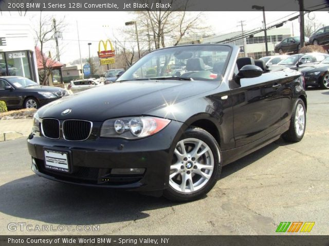 jet black 2008 bmw 1 series 128i convertible black interior vehicle archive. Black Bedroom Furniture Sets. Home Design Ideas