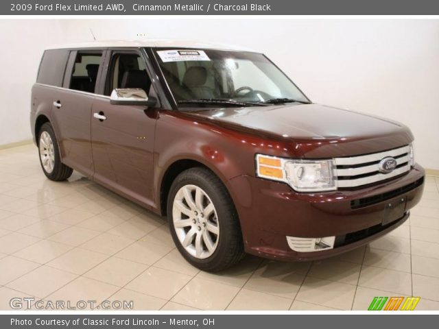 cinnamon metallic 2009 ford flex limited awd charcoal. Black Bedroom Furniture Sets. Home Design Ideas