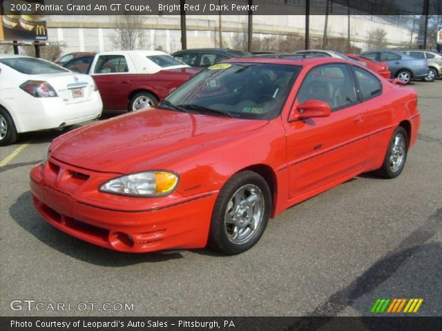 2002 Pontiac Grand Am GT Coupe in Bright Red. Click to see large photo ...