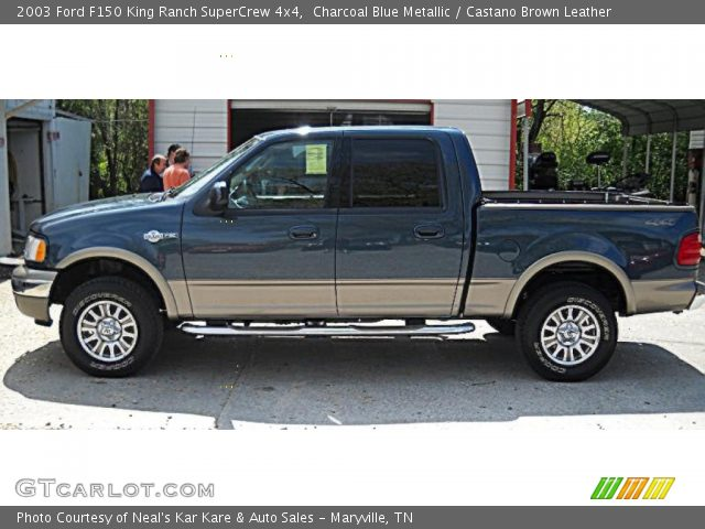 2003 Ford F150 King Ranch SuperCrew 4x4 in Charcoal Blue Metallic