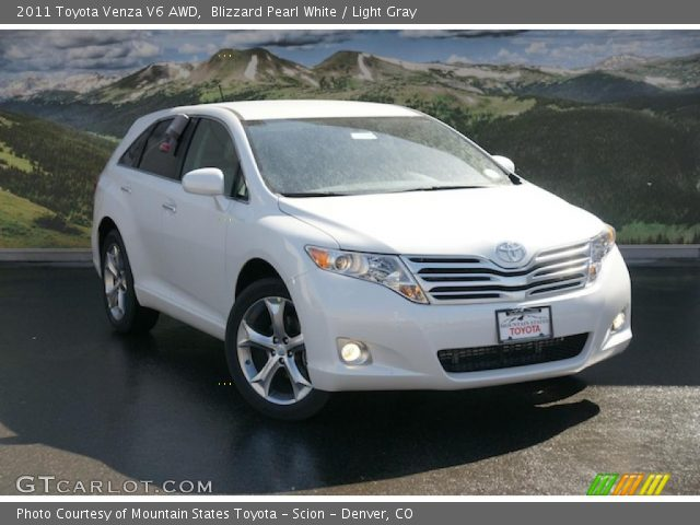 blizzard pearl white 2011 toyota venza v6 awd light. Black Bedroom Furniture Sets. Home Design Ideas