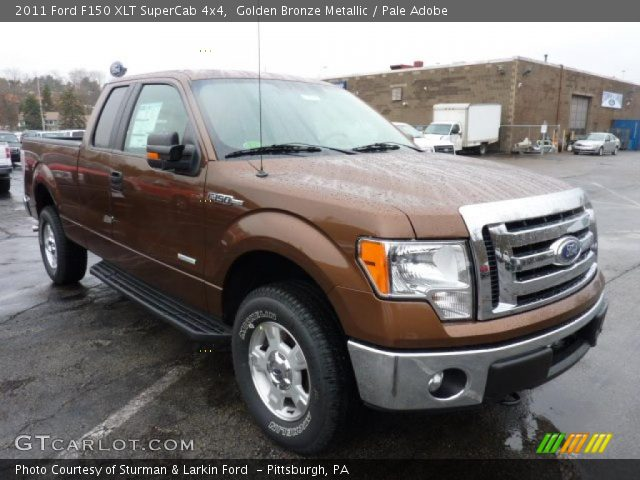 golden bronze metallic 2011 ford f150 xlt supercab 4x4 pale adobe interior. Black Bedroom Furniture Sets. Home Design Ideas
