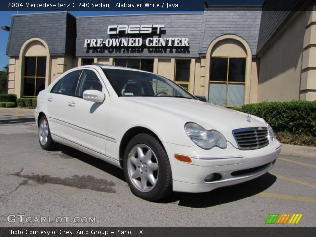 alabaster white 2004 mercedes benz c 240 sedan java interior vehicle. Black Bedroom Furniture Sets. Home Design Ideas