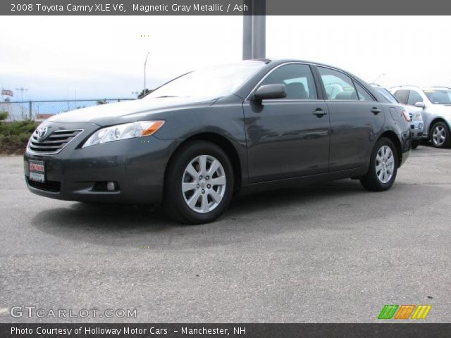 magnetic gray metallic 2008 toyota camry xle v6 ash interior vehicle. Black Bedroom Furniture Sets. Home Design Ideas