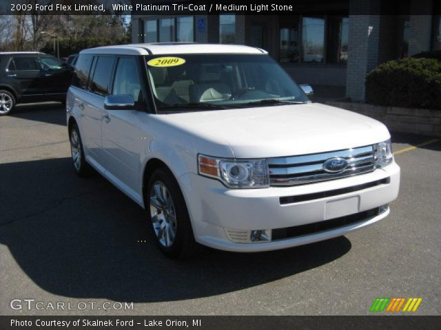 white platinum tri coat 2009 ford flex limited medium. Black Bedroom Furniture Sets. Home Design Ideas