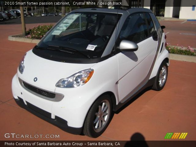 2010 Smart fortwo passion cabriolet in Crystal White