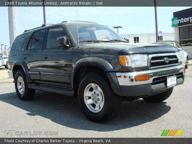 Anthracite Metallic 1998 Toyota 4runner Limited Oak Interior Vehicle