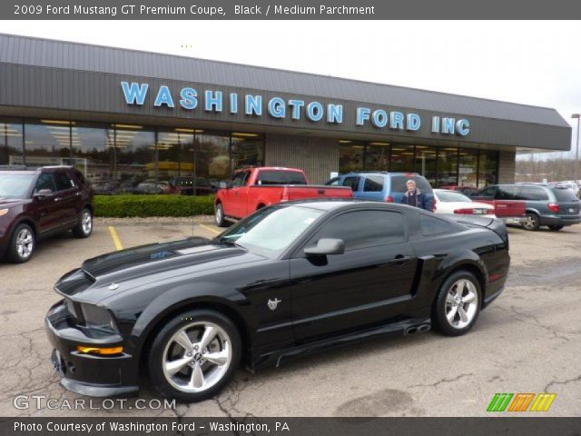 black 2009 ford mustang gt premium coupe medium parchment interior vehicle. Black Bedroom Furniture Sets. Home Design Ideas