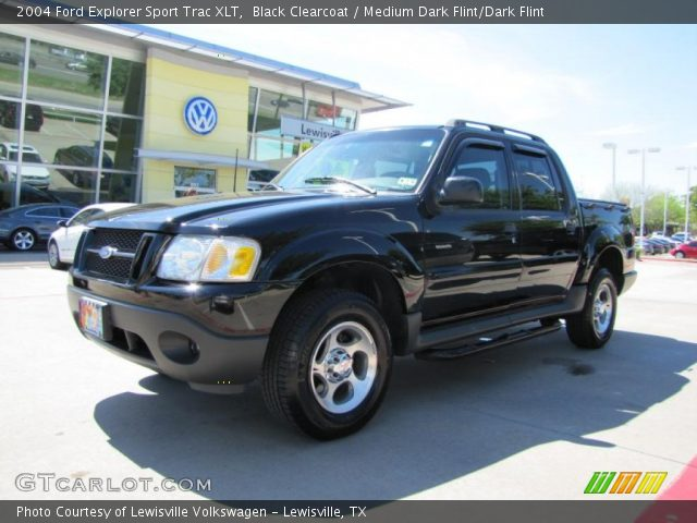 black clearcoat 2004 ford explorer sport trac xlt medium dark flint dark flint interior. Black Bedroom Furniture Sets. Home Design Ideas