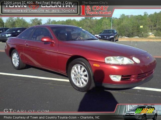 red pearl metallic 1994 lexus sc 400 gray interior. Black Bedroom Furniture Sets. Home Design Ideas