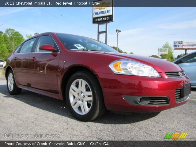 red jewel tintcoat 2011 chevrolet impala lt gray. Black Bedroom Furniture Sets. Home Design Ideas