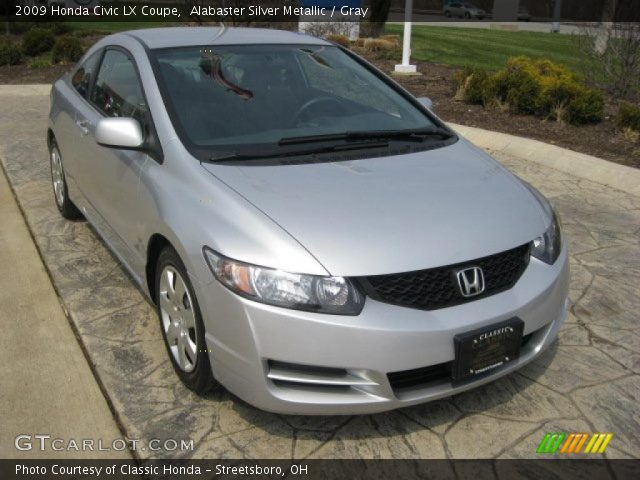 alabaster silver metallic 2009 honda civic lx coupe gray interior vehicle. Black Bedroom Furniture Sets. Home Design Ideas