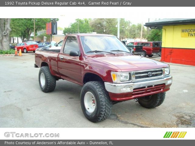 1992 Toyota Pickup Deluxe Regular Cab 4x4 in Garnet Red Pearl