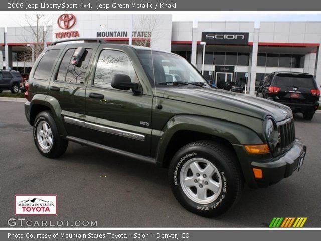 jeep green metallic 2006 jeep liberty sport 4x4 khaki interior vehicle. Black Bedroom Furniture Sets. Home Design Ideas