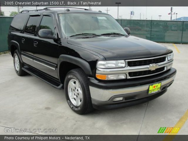 black 2005 chevrolet suburban 1500 lt tan neutral interior vehicle archive. Black Bedroom Furniture Sets. Home Design Ideas