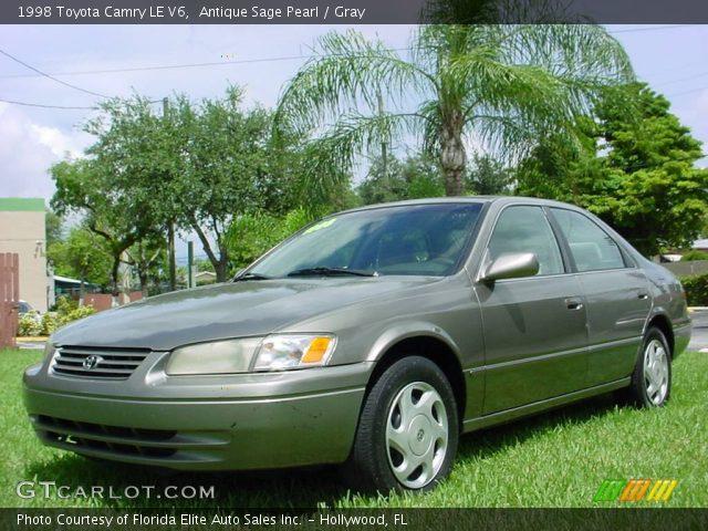 antique sage pearl 1998 toyota camry le v6 gray interior vehicle archive. Black Bedroom Furniture Sets. Home Design Ideas