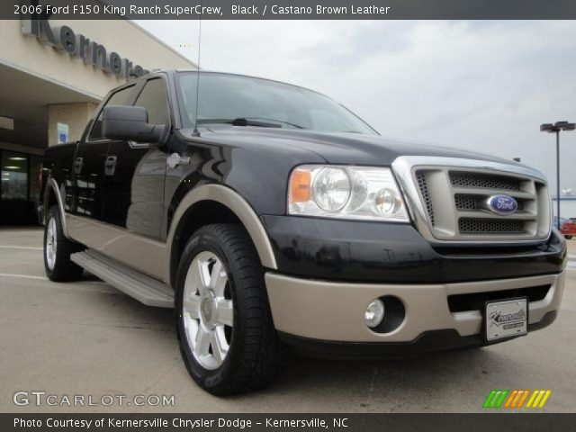 black 2006 ford f150 king ranch supercrew castano brown leather interior. Black Bedroom Furniture Sets. Home Design Ideas