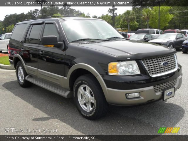 black clearcoat 2003 ford expedition eddie bauer medium parchment interior. Black Bedroom Furniture Sets. Home Design Ideas