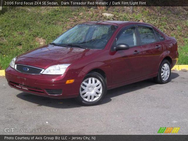 dark toreador red metallic 2006 ford focus zx4 se sedan. Black Bedroom Furniture Sets. Home Design Ideas