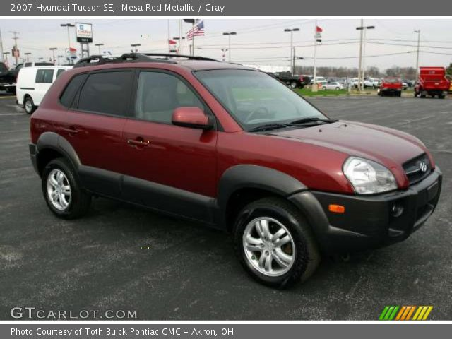 mesa red metallic 2007 hyundai tucson se gray interior. Black Bedroom Furniture Sets. Home Design Ideas