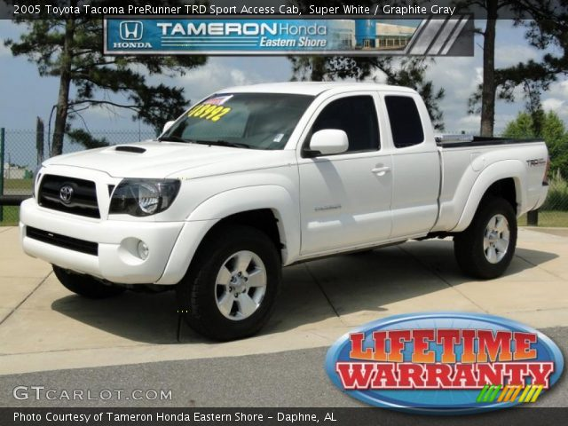 super white 2005 toyota tacoma prerunner trd sport. Black Bedroom Furniture Sets. Home Design Ideas
