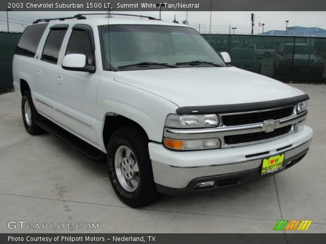 summit white 2003 chevrolet suburban 1500 lt tan neutral interior vehicle. Black Bedroom Furniture Sets. Home Design Ideas