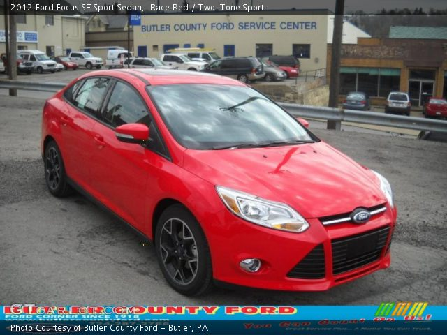 race red 2012 ford focus se sport sedan two tone sport interior vehicle. Black Bedroom Furniture Sets. Home Design Ideas