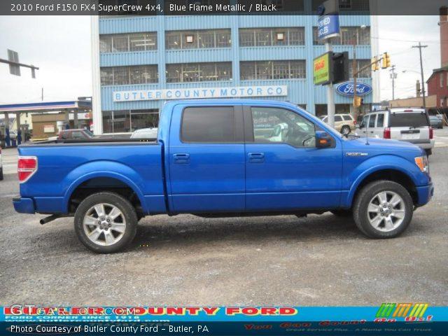 blue flame metallic 2010 ford f150 fx4 supercrew 4x4. Black Bedroom Furniture Sets. Home Design Ideas