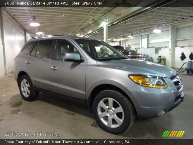 steel gray 2008 hyundai santa fe limited 4wd gray interior vehicle archive. Black Bedroom Furniture Sets. Home Design Ideas