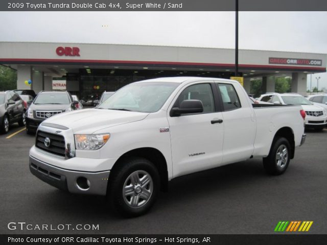super white 2009 toyota tundra double cab 4x4 sand interior vehicle archive. Black Bedroom Furniture Sets. Home Design Ideas