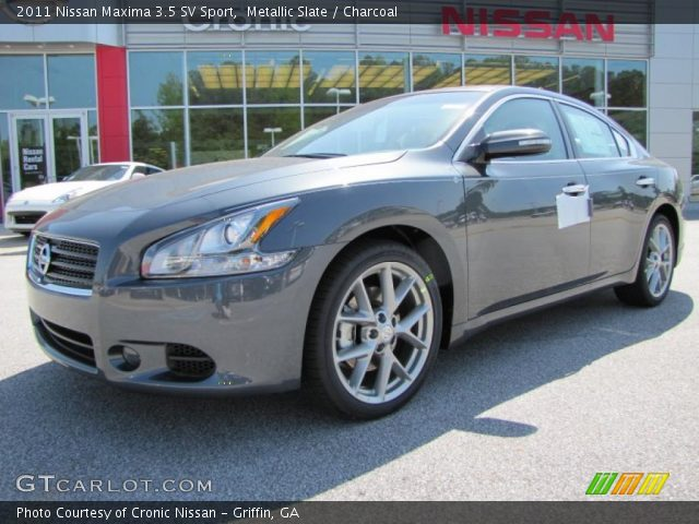 metallic slate 2011 nissan maxima 3 5 sv sport charcoal interior vehicle. Black Bedroom Furniture Sets. Home Design Ideas