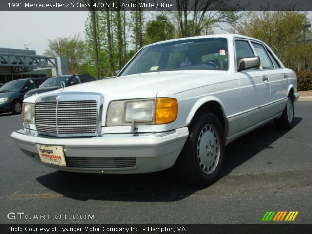 Arctic white 1991 mercedes benz s class 420 sel blue for 1991 mercedes benz 420sel