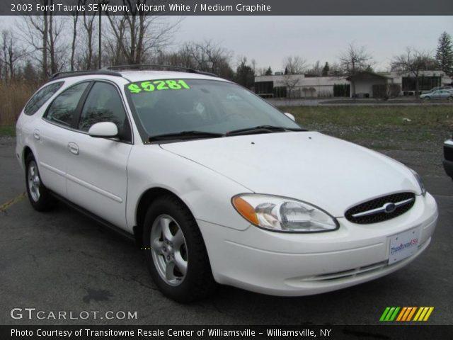 Vibrant White - 2003 Ford Taurus SE Wagon - Medium Graphite Interior ...